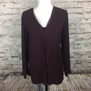 Ann Taylor wine color blouse